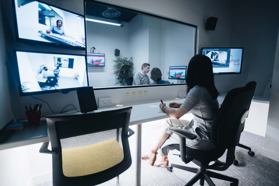 AV Setup in User Experience UX Testing Lab