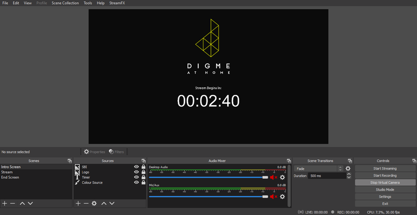 Digme at Home OBS screen.png