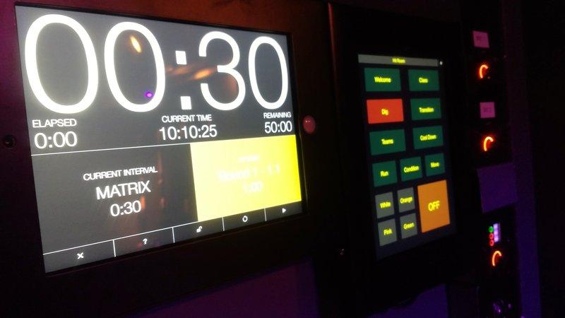 Digme Fitness, Blackfriars. iPad control