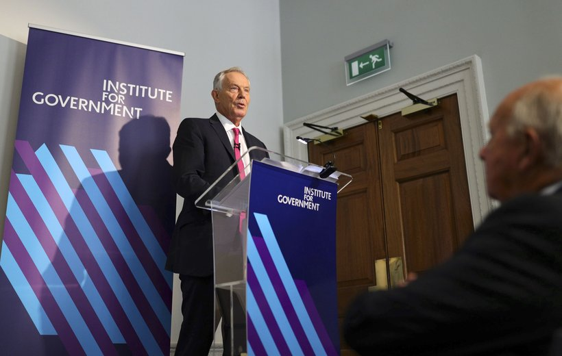 IFG Tony Blair podium
