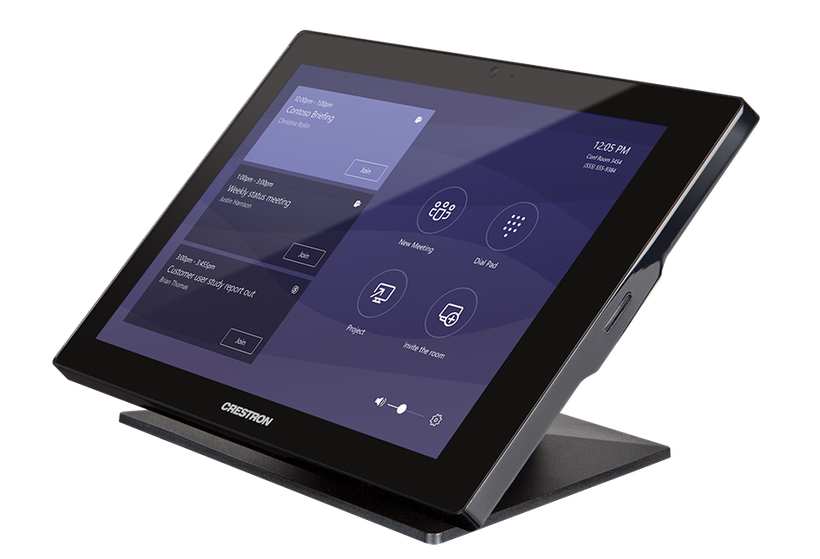 crestron microsoft teams touch panel