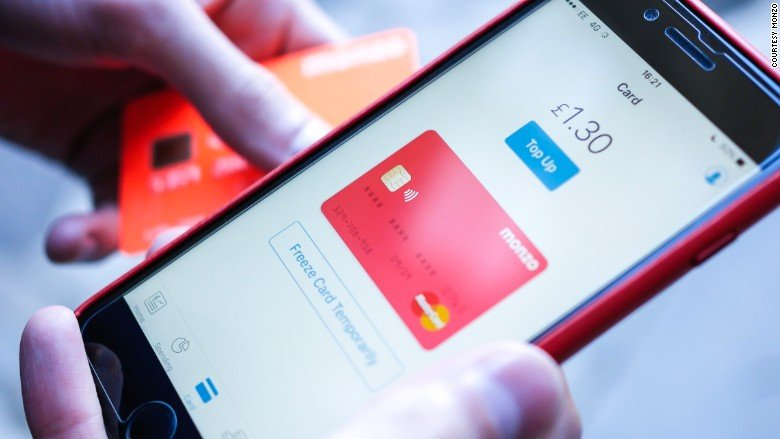 Monzo app and card