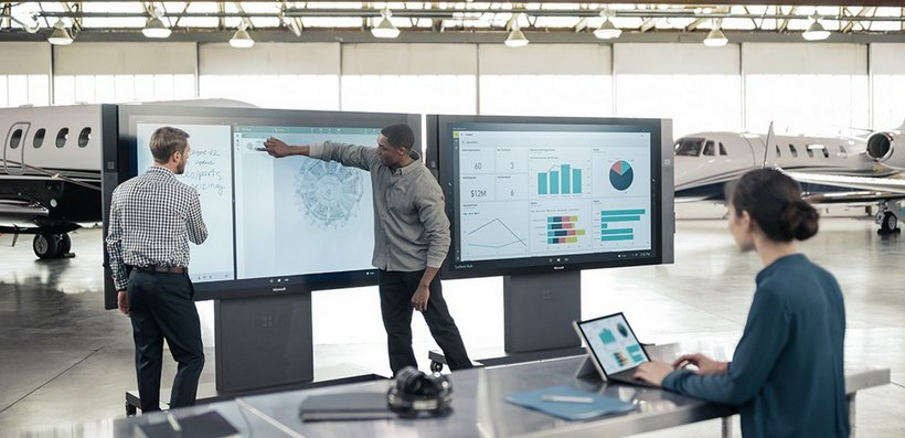Microsoft surface hub collaboration