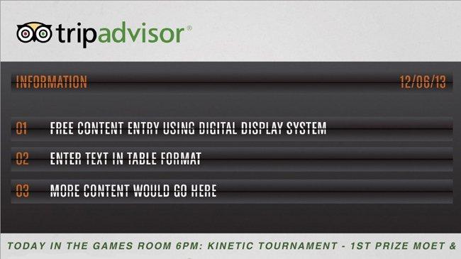 TripAdvisor Digital Signage