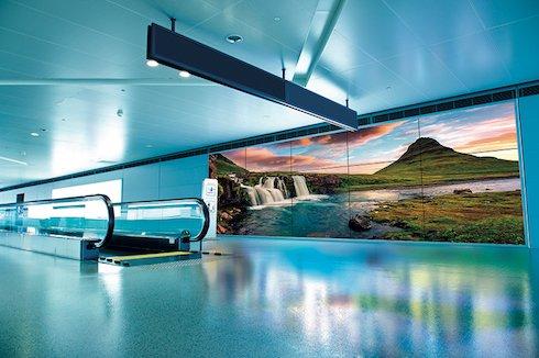 Airport videowall