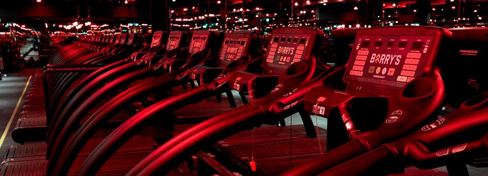 Barry's Bootcamp treadmills