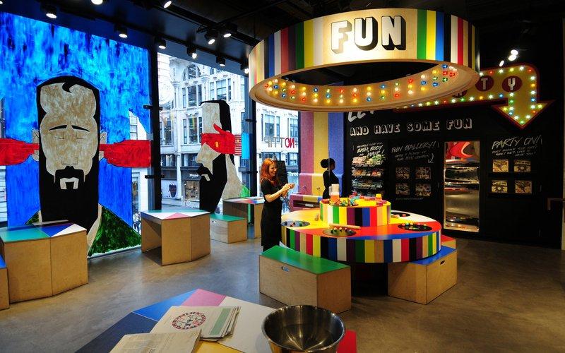 lush retail space