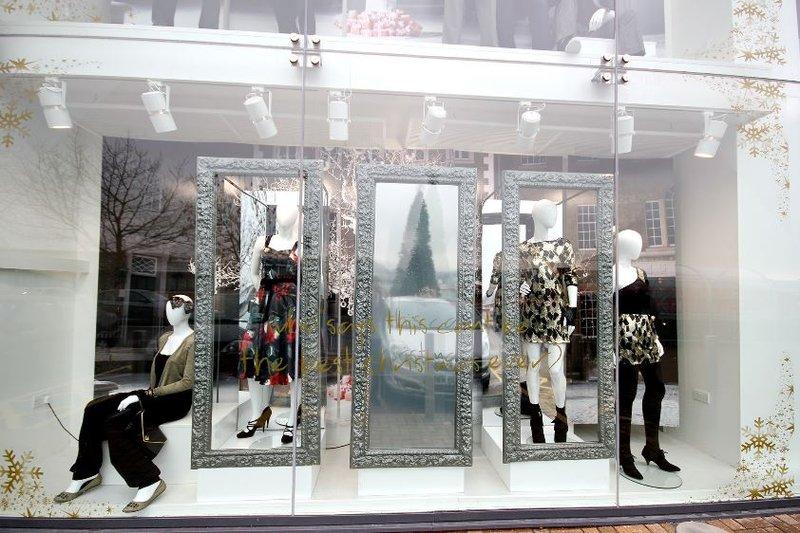 mirror advertising screen retail fashion