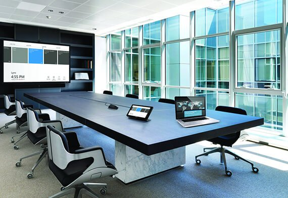 videoconferencing with laptop and control